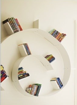 Circular bookshelf awesome bookshelf books shelves cool bookshelves bookworm shelf books - Kartell nachtkastje ...